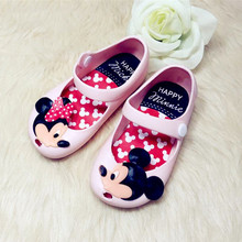 2016 Summer new baby girls sandals mini melissa MIKI MInnie Jelly shoes Glass slipper mini melissa Princess infant shoes(China (Mainland))