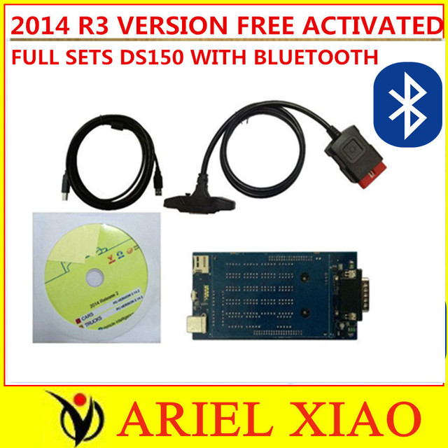 Hot Selling 2014 R3 /2014 R2 TCS CDP pro plus DS150 Diagnostic Scanner Tool OBD2 CARs/TURCKs One Year Warranty