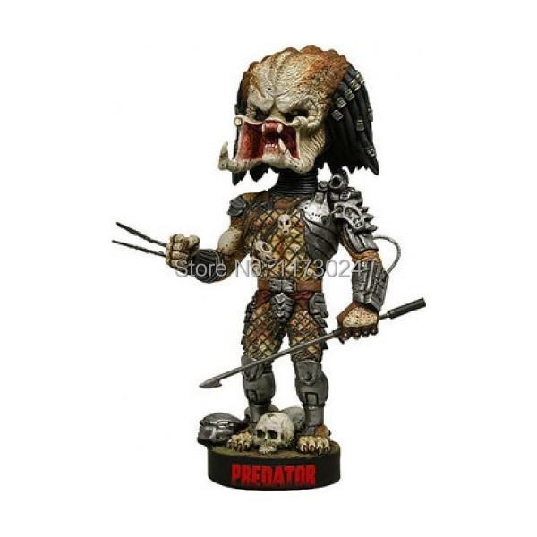 Pop Classic Sci-Fi/Horror Movie Schwarzenegger Predator Spear Extreme 7 Head Knockers/Bobble Head Doll Toy New Box<br><br>Aliexpress