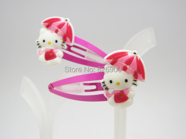Free Shipping 2 pieces Hello Kitty Lovely Soft Rubber Hair Clip Barrette ALK227(China (Mainland))