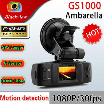 Ambareall GS1000 GS1000VSA Built-in GPS / G-Sensor 5MP H.264 Full HD 1080p Car DVR / 1.5' LCD/ HDMI / Seamless Cycle Recording