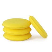 2015 New arrival hot sale 6 pcs/lot Hand Soft Wax Yellow auto seaweed washing sponge Pad for Car Detailing Care Wash Clean
