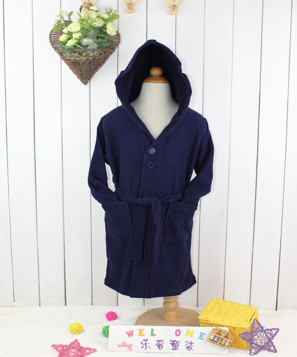 LeJin 2016 Children's Robe Bathrobe Kids Bathing Suit Nightwear Soft Sleepwear Pijama 85% Cotton & 15% Polyester 4-12 Years(China (Mainland))
