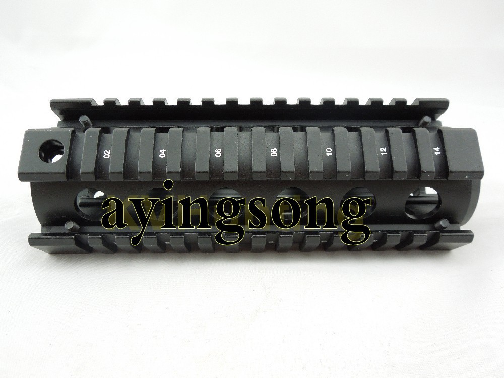 Tactical RIS Handguard Picatinny Weaver Extend Quad Rail System M4 Airsoft Carbine Rifle - ayingsong's store