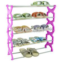 1pcs/lot Five-layer stainless steel rhombus combination shoe rack,shoe storage holder(China (Mainland))