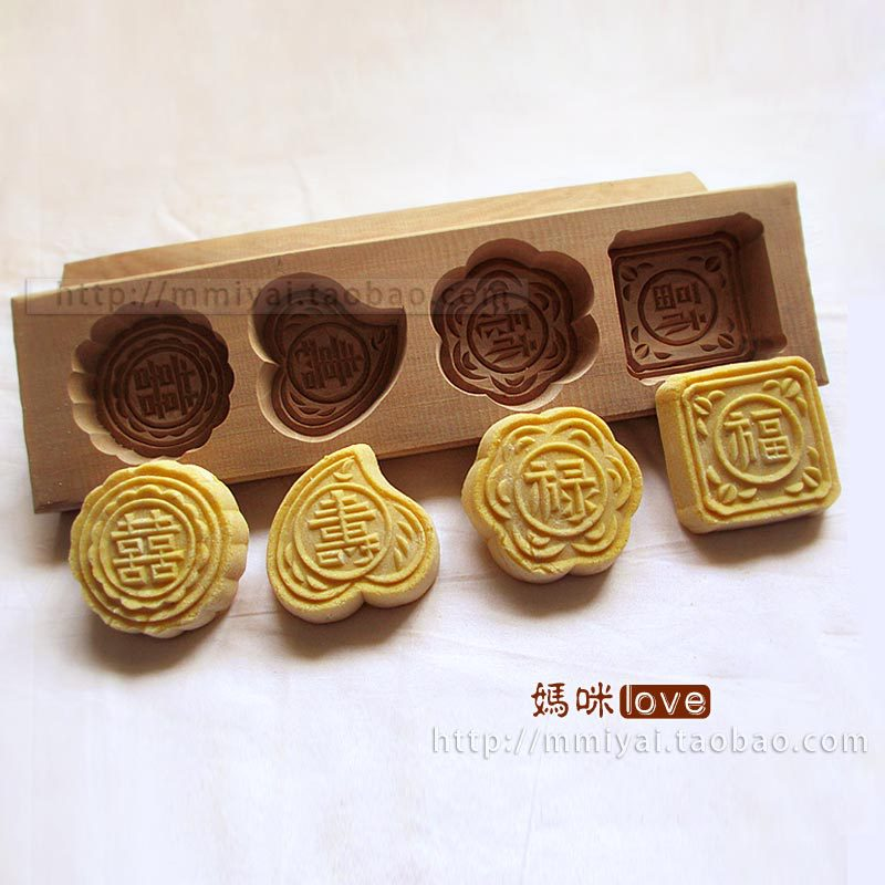 Limited-time promotion mung bean pasta pumpkin pie dessert purple potato cake moon cake bread baking mold knock wood sub-pear(China (Mainland))