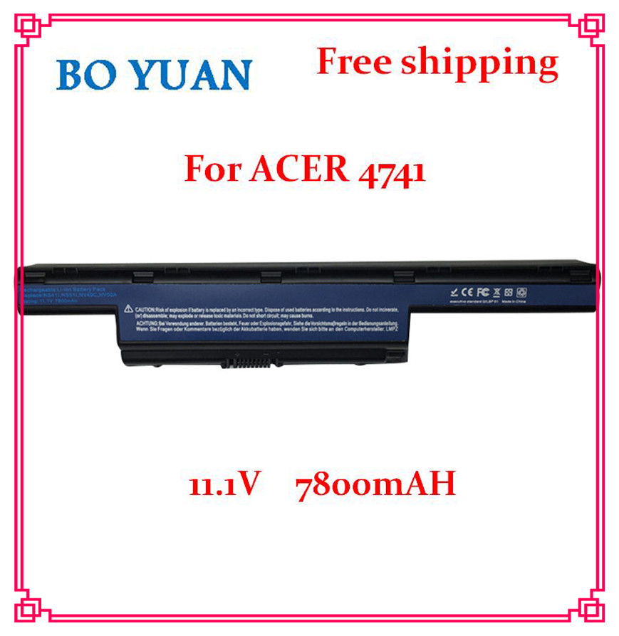 9 Cells 7800mAh Laptop Battery For Acer Aspire 5736Z 5736ZG 5741G 5741Z 5742 5742G 5742Z 5742ZG 5750 5750G 5750TG 5750Z 5755(China (Mainland))