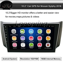 10.2 Inch 2 Din Android Car Radio Player for Nissan Sylphy 2016,Quad Core 1024x600 GPS Navigation