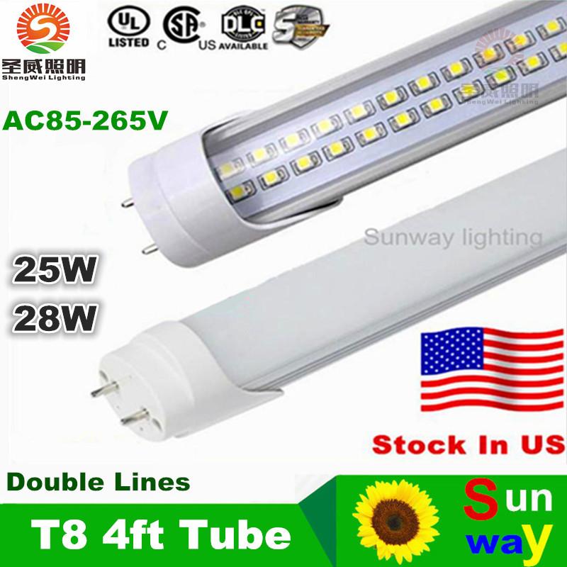 PVC Plastic 25W 28W LED Tube T8 Light AC 85-265V 120cm LED Wall Lamp Cold White LED Fluorescent T8 Neon LED T8 lamp(China (Mainland))