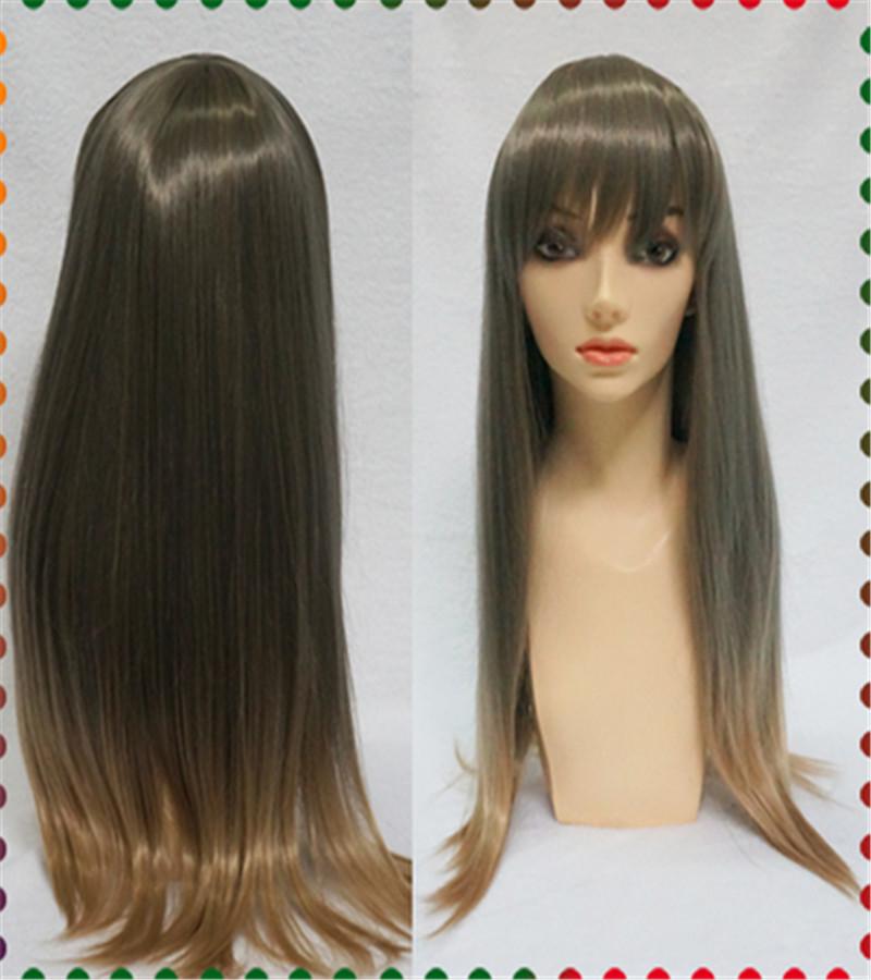 Japanese Harajuku Woman Hair Straight Gey Gradient Wig Lolita wig wig cap+free shipping<br><br>Aliexpress