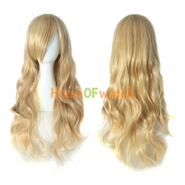 Hot sale Charming Blonde Long Wavy Costume Wig Hair  (NBW0WG60014-BD2)(China (Mainland))
