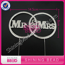 Buy FREE SHIPPING! Sliver Mr&Mrs two rings cake topper,diamond Mr&Mrs rhinestone wedding cake topper,wedding cake Mr&Mrs topper for $72.69 in AliExpress store