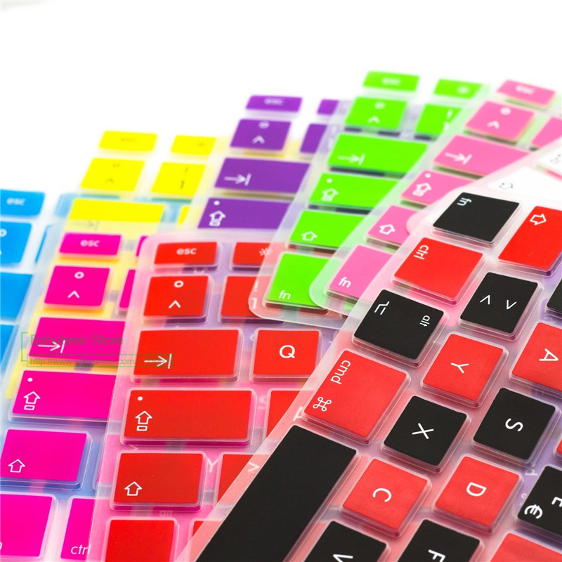 2015 new Silicone Spanish Keyboard cover For Macbook Air Pro 13 15 17 Protector for Mac book keyboard Spanish Spain EU(China (Mainland))