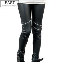 East Knitting FREE SHIPPING+Wholesale C8 2012 Fashions Hot  Style Neon Metallic Electric Zippers Leather Leggings(China (Mainland))