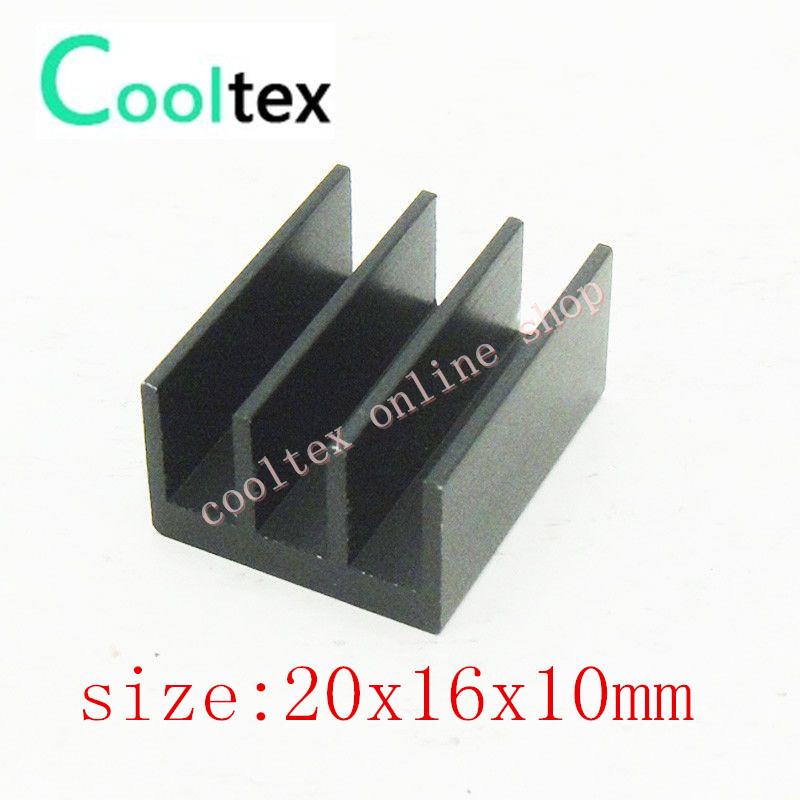 200pcs/lot  20x16x10mm Aluminum Heatsink, radiator,Chip CPU GPU VGA RAM LED IC Heat Sink for Electronics,COOLER