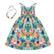 2016 crianças de verão roupas meninas novas 2-11Y crianças praia vestidos para as meninas moda estilo bohemian meninas vestidos colar livre