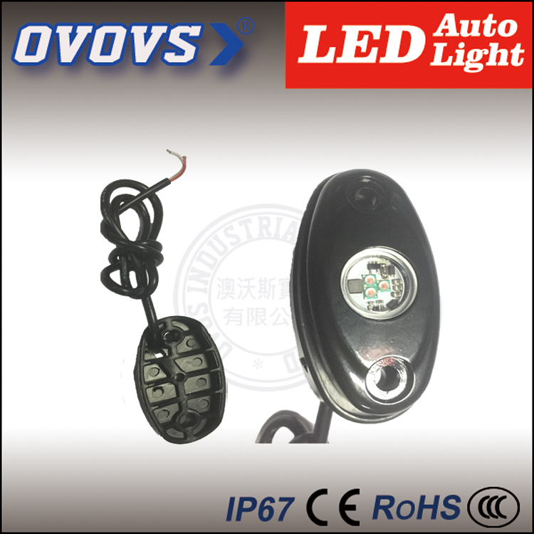"OVOVS new factory price mini rock light auto part 2"" 12v 9w under car lighting for offroad j-eep tractor(China (Mainland))"