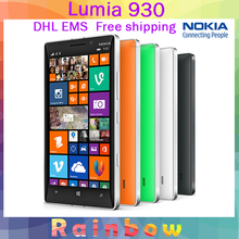 Unlocked Original Nokia Lumia 930 Mobile phone Qualcom 800 Quad core 2GB RAM 32GB ROM 20MP  5 inch phone DHL EMS free shipping(China (Mainland))