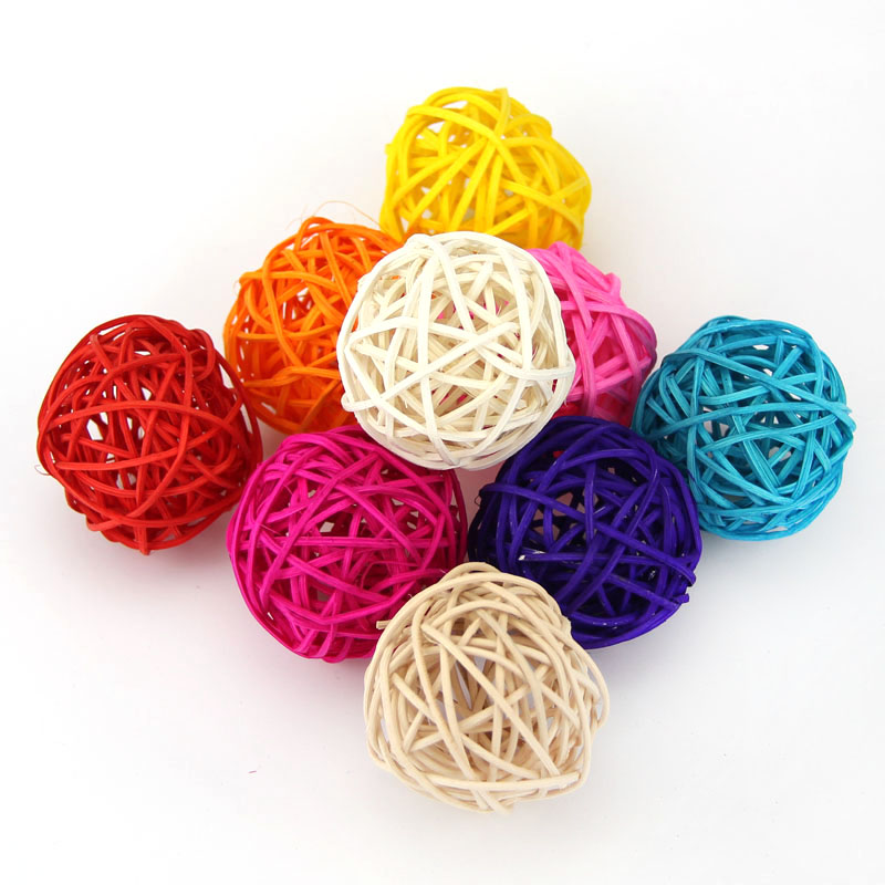 10PCS/Lot Hot Sales Diameter 5CM Can Mix Color For Wedding Decorative Rattan Ball,Christmas Decor Home Ornament Home Decoration(China (Mainland))