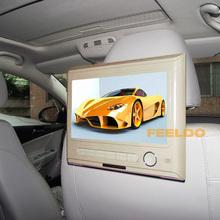 Beige 9inch Car Headrest Mounting DVD Media Player Supports USB/SD/IR/FM/32-digit Game/Speaker  #CA4303TZ(China (Mainland))