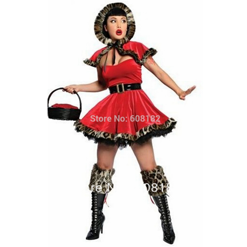 Red riding hood sexy christmas costumes for women sexy santa costumes