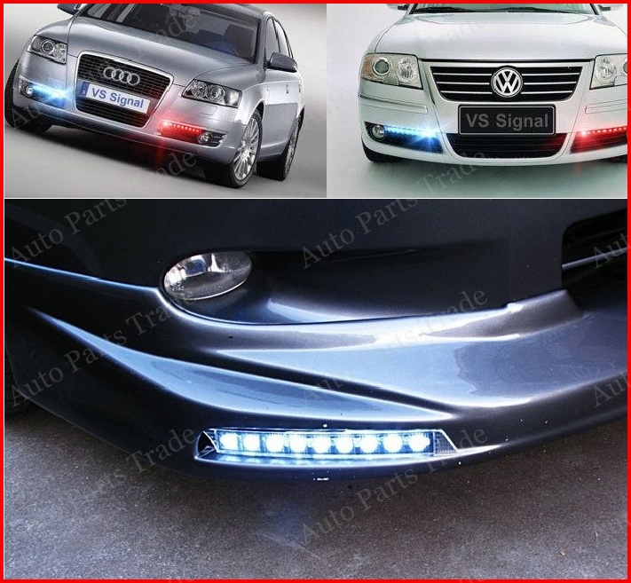 1 pair 9W LED Daytime Running light fit for Audi A6L , 9LED DRL fit for Volkswagen Passat (with turning function) Free Shipping<br><br>Aliexpress
