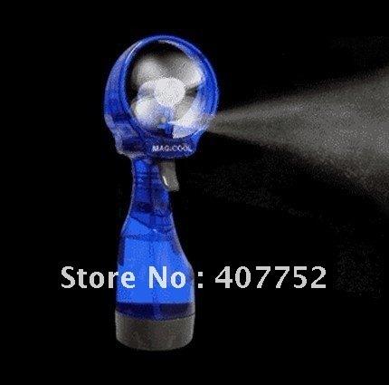 MOQ1pcs Freeshipping Water Spray Fan (blue green yellow purple) Wholesale price