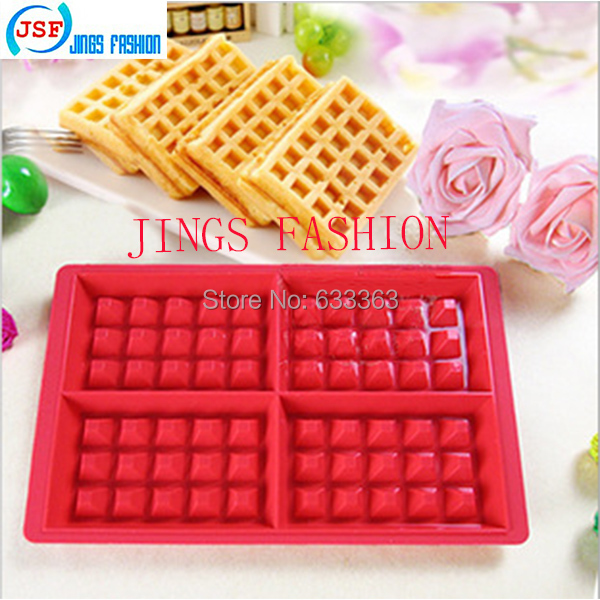 Red Silicone Square Waffle Mold Perfect Home Products Baking Molds, JSF-A1003(China (Mainland))