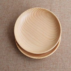 2 Pieces Wood  Plate For Fruit  Bread Dinner 16*2.8CM Handmade Solid Tableware Dishes Wooden Roundness Dessert Plate