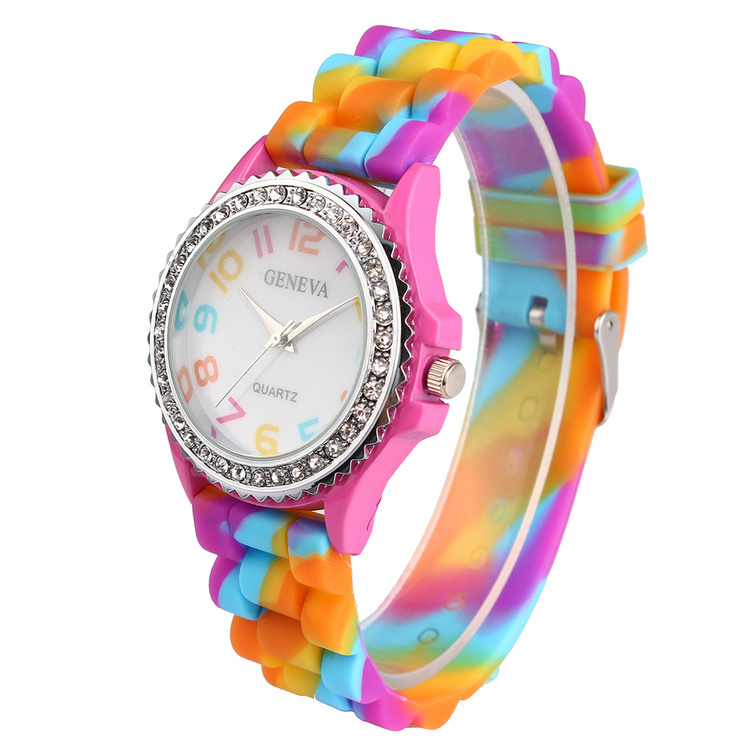Colorful Candy Color Silicone Watch Wristwatches Kids ...