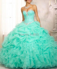 2014 новый на складе новое прибытие бальное платье из органзы с бусины Quinceanera платья платья 15 лет свадебные платья 15 Anos на складе размер : 2-16