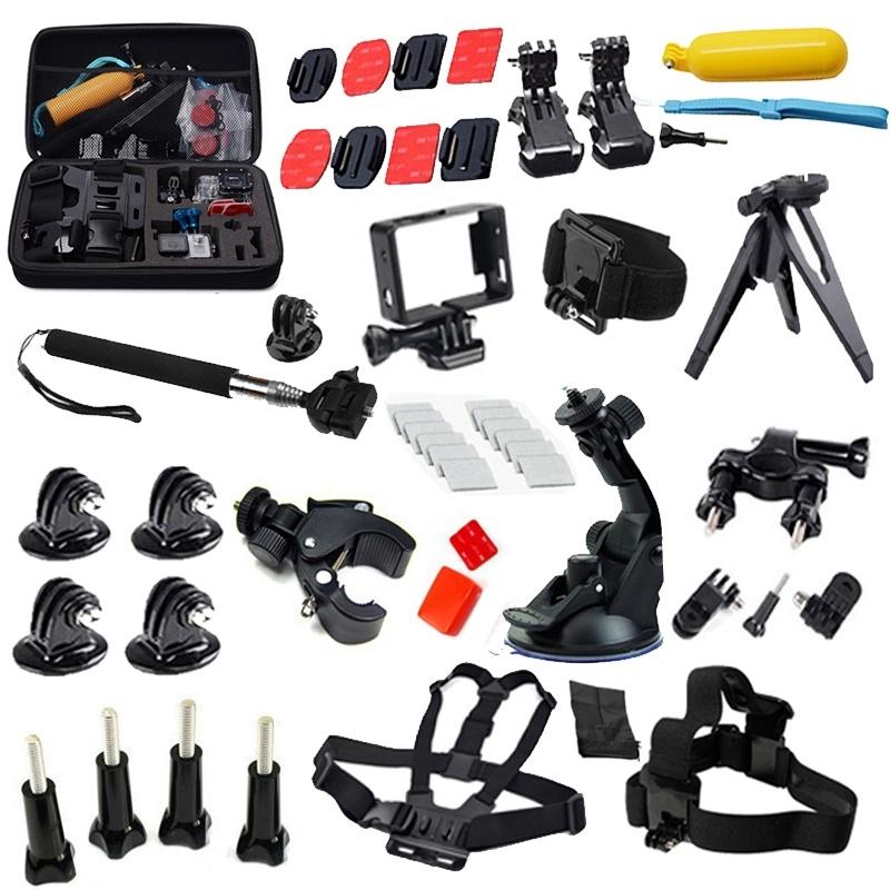 Gopro Accessories 33-in-1 Kit Set Head Chest Strap  Belt Monopod Bike Handlebar Mount Aadpter Floating Handle Grip<br><br>Aliexpress