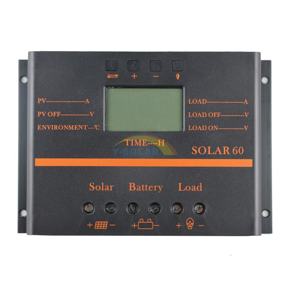 Солнечный контроллер 60A PV 12 24V 5V usb