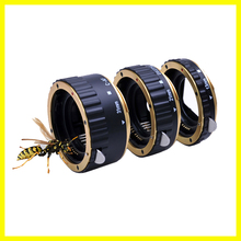 Gold Auto Focus AF Mount Macro Extension Tube Ring for EF-S T5i T4i T3i T2i T1i 100D 60D 70D 550D 600D 6D 7D Lens Adapter