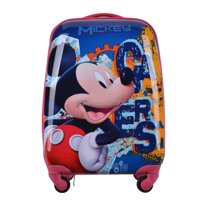 """High quality abs pc trolley luggage bags for child,kids cartoon travel luggage bags,18"""" funny luggages for children(China (Mainland))"""