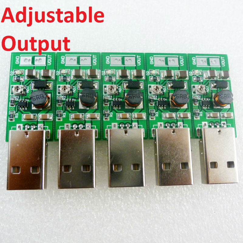 5x USB 5V to DC 6V 9V 12V 15V adjustable Output DC DC Converter Step-up Boost UPS Module for PTZ camera Smart Home LED Motor(China (Mainland))