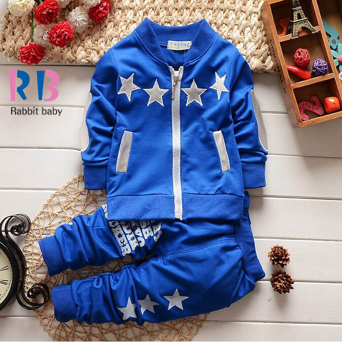 2015 new Summer wear baby Boy clothing set boy sports suit set clothing children outerwear coat tracksuit clothes T shirt+pant(China (Mainland))