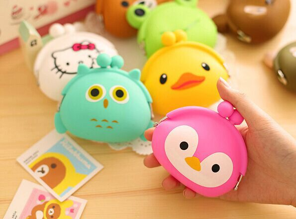 Cute mini coin purse girl bag cartoon children's holiday gifts silicone hand wallet - JILL JING store
