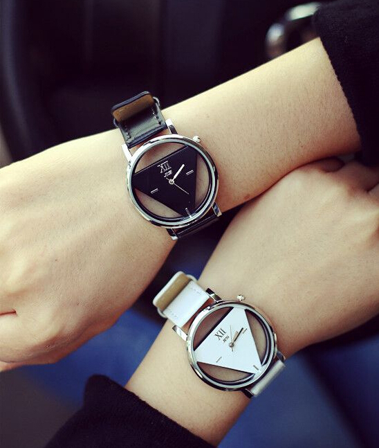 High quality fashion Contracted tide triangle watch W02(China (Mainland))
