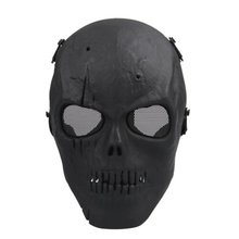 Nflc Airsoft masque crâne masque de protection complet militaire - noir(China (Mainland))