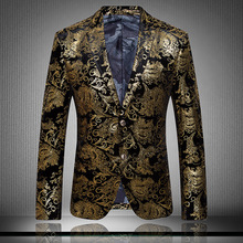 2015 new autumn and winter male quality flannelet suit decorative pattern personality blazer singer dancer stars performance(China (Mainland))