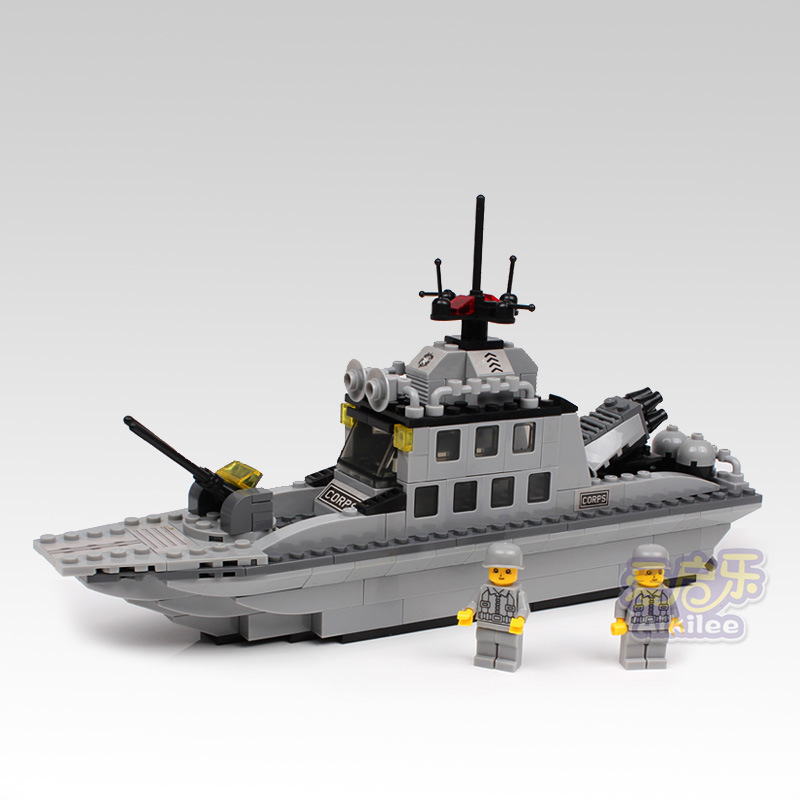 Navy destroyer Chaser Battleship model Fight inserted Building Blocks Kids Educational toys brain game toy brick gift(China (Mainland))