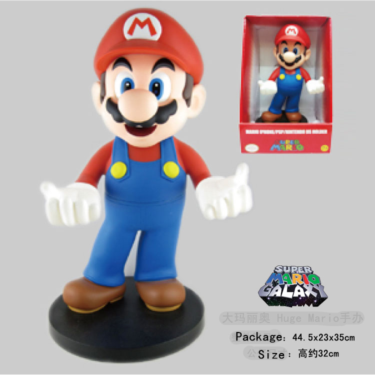 32cm Super Mario Bros Figures DS Lite Holder PVC action figures Mario Models collection toys for children with Box #D