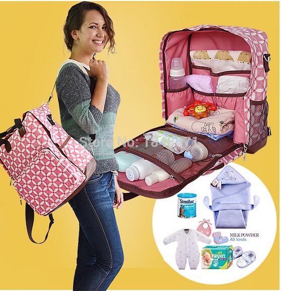 LANDUO Brand New High-Capacity Mummy Diaper Bag Organizer Baby Bag Mother Maternity Nappy Bag Travel Bag Backpack Waterproof(China (Mainland))