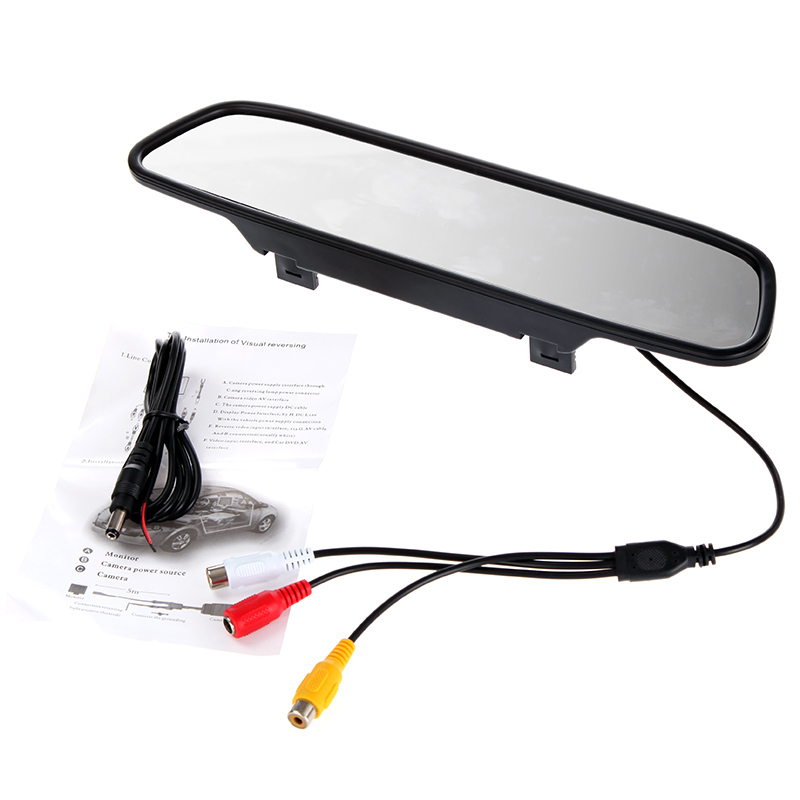 """Universal 4.3"""" Color TFT LCD Car Rearview Mirror Monitor for DVD Camera VCR 4.3inch 16:9 Screen Car Parking Assistance(China (Mainland))"""