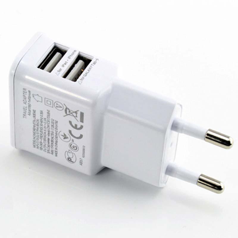 Dual USB EU Plug Wall Charger 2usb port mobile phone charger For 4S 5 4 SAMSUNG