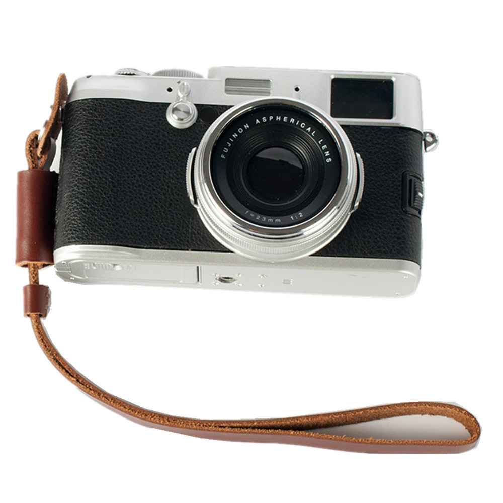 New fashion Vintage Genuine real Leather Camera hand strap DSRL Handmade Brown - Digital_online007 store