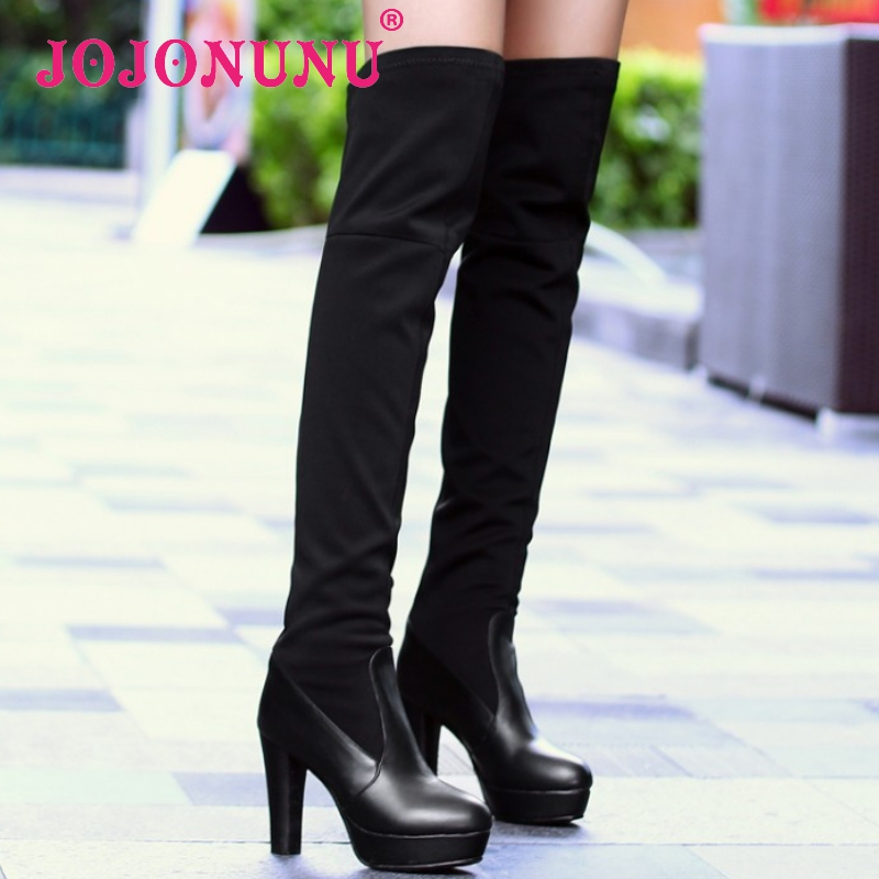 size 30-45 women real genuine leather high heel over knee boots long boot warm winter botas brand footwear heels shoes R7760<br><br>Aliexpress