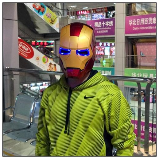Avengers cartoon toys 1:1 Iron Man Motorcycle PVC Helmet Mask Tony Stark Mark Cosplay Mask with LED Light Wearable model(China (Mainland))