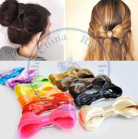 bowknot wig piece neon hair duck clips hairpins Accessories decor Lady girl's CN post